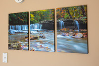 17x33 canvas wrap  Triptych