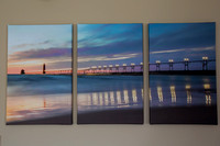 17X33 Triptych canvas wrap