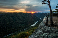 Tonights sunset at New River Gorge WV