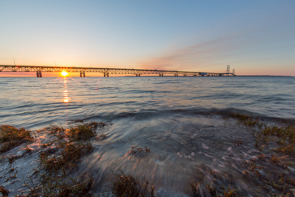 Tonights sunset Mackinaw bridge, Mackinaw city