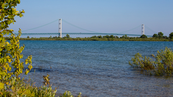 Mackinaw Bridge from the U.P.  side